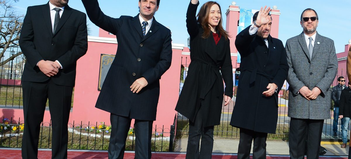 La gobernadora María Eugenia Vidal y el intendente Ariel Sujarchuk celebraron juntos el Día de la Bandera y el 123º aniversario de la ciudad de Garín