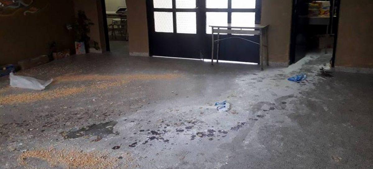 Indignación por dos actos de vandalismo en la Media 2 de Matheu: destrozos, pintura sobre escritorios y desparramo de papeles y comida