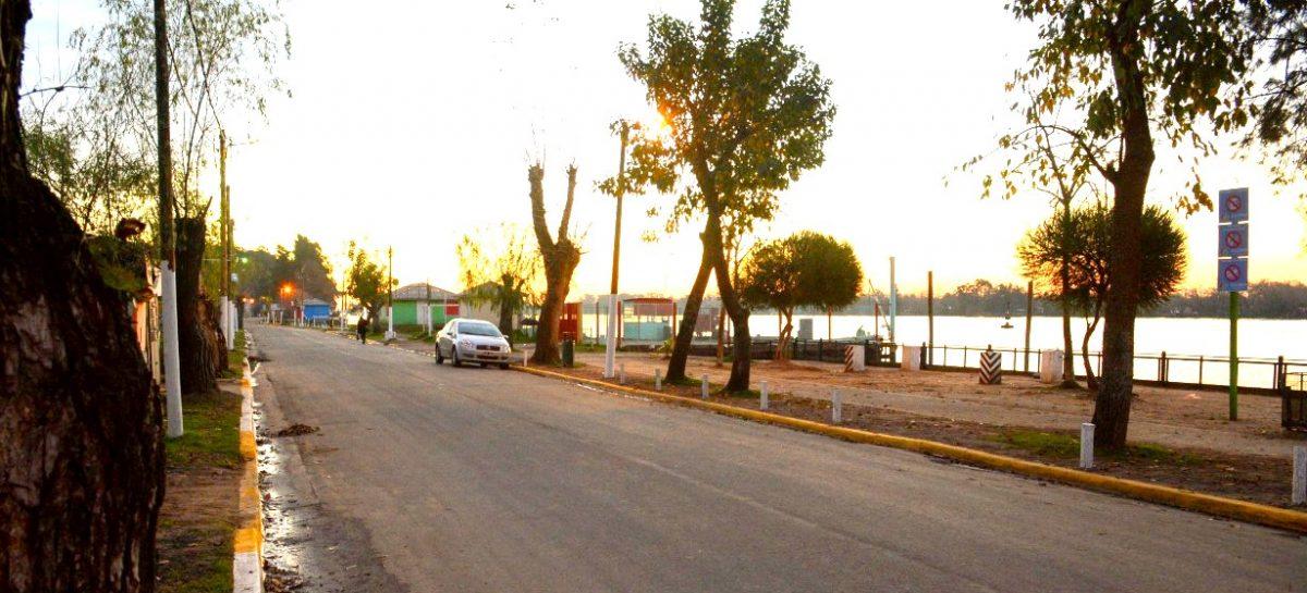 El municipio inauguró 2300 metros de asfalto y una nueva plaza en el paseo costero del Paraná de las Palmas