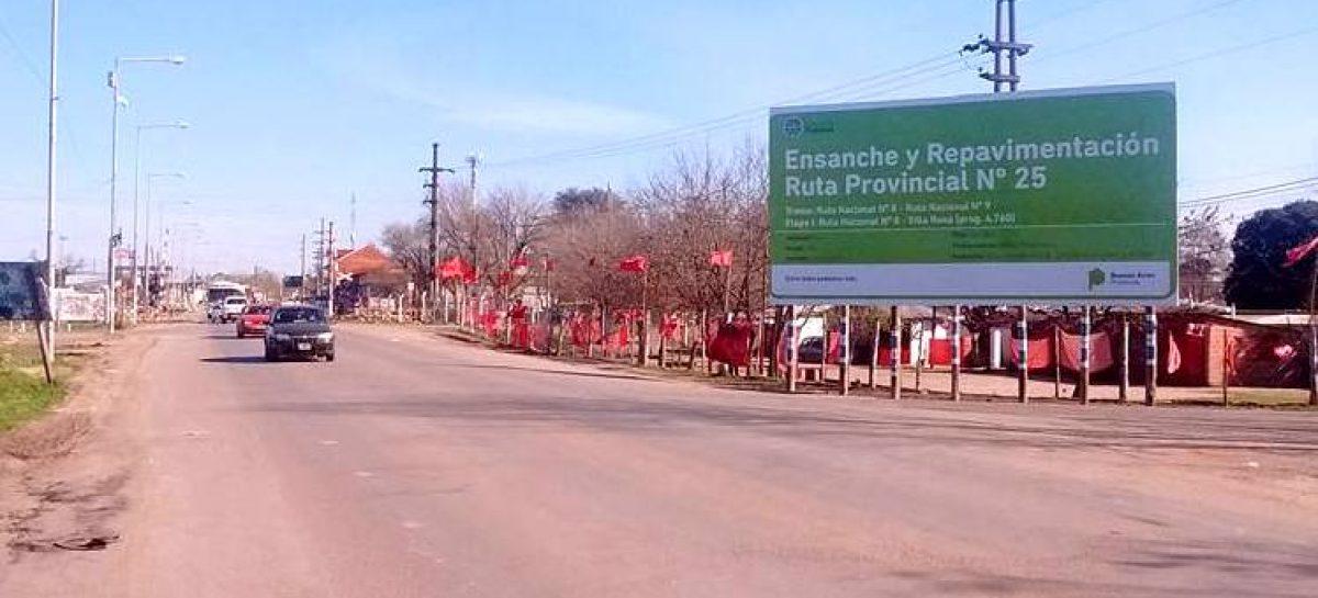 Exclusivo: el primer tramo del ensanche y repavimentación de la ruta 25 será entre Pilar y Villa Rosa