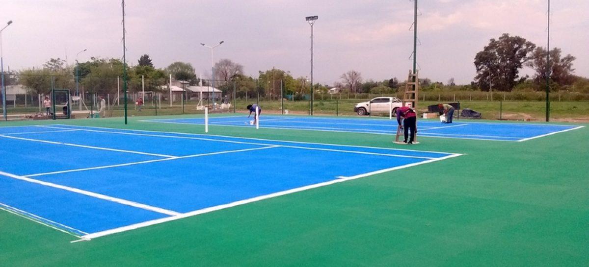 Adelanto: el sábado 7 de octubre se inauguran en el poli de Matheu las primeras canchas de tenis municipales