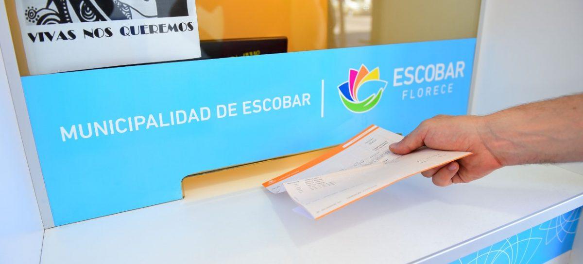 La Municipalidad de Escobar extiende la moratoria para el pago de la Tasa por Servicios Generales