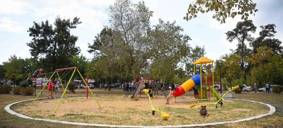 El intendente Ariel Sujarchuk recorrió la puesta en valor de la Plaza La Rotonda en Belén de Escobar
