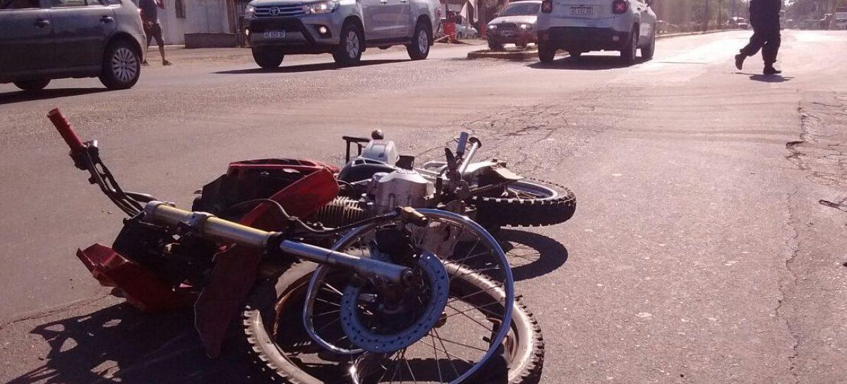 Accidente en ruta 25: un motociclista fue trasladado al hospital de Escobar con contusiones varias