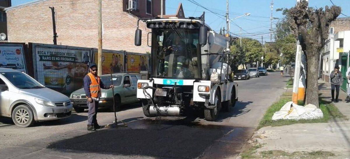 La Municipalidad de Escobar prosigue con los trabajos de estabilizado y bacheo