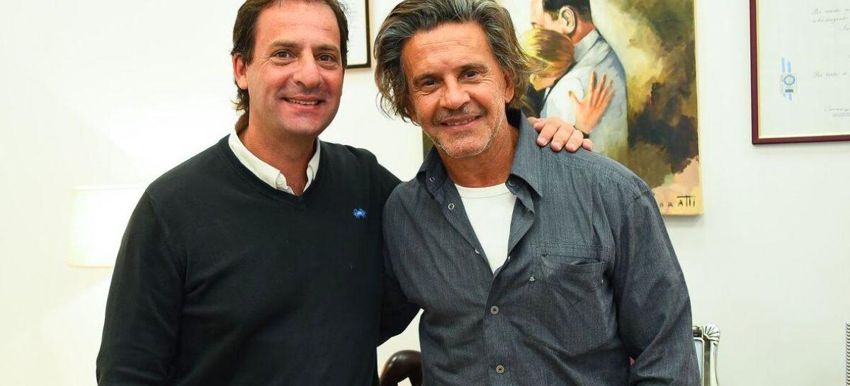 Ariel Sujarchuk recibió a Osvaldo Laport, padrino y director artístico del Teatro Seminari Cine Italia