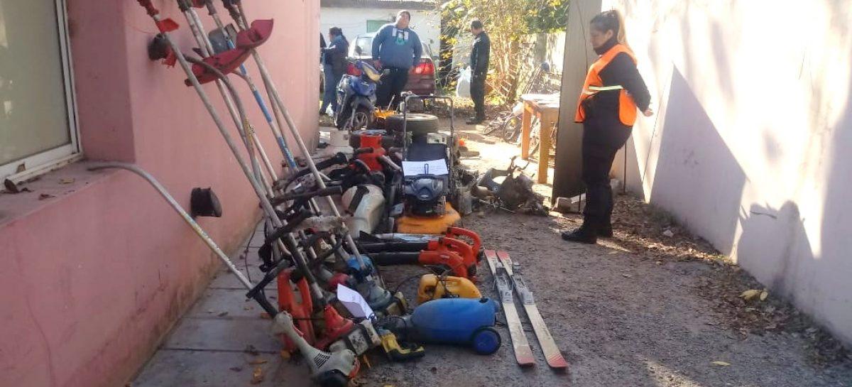 Desbaratan desarmadero de motos en Matheu: dos detenidos y 230 municiones incautadas