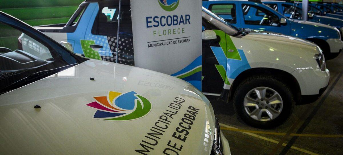 El municipio de Escobar presentó 14 nuevos vehículos adquiridos con fondos propios