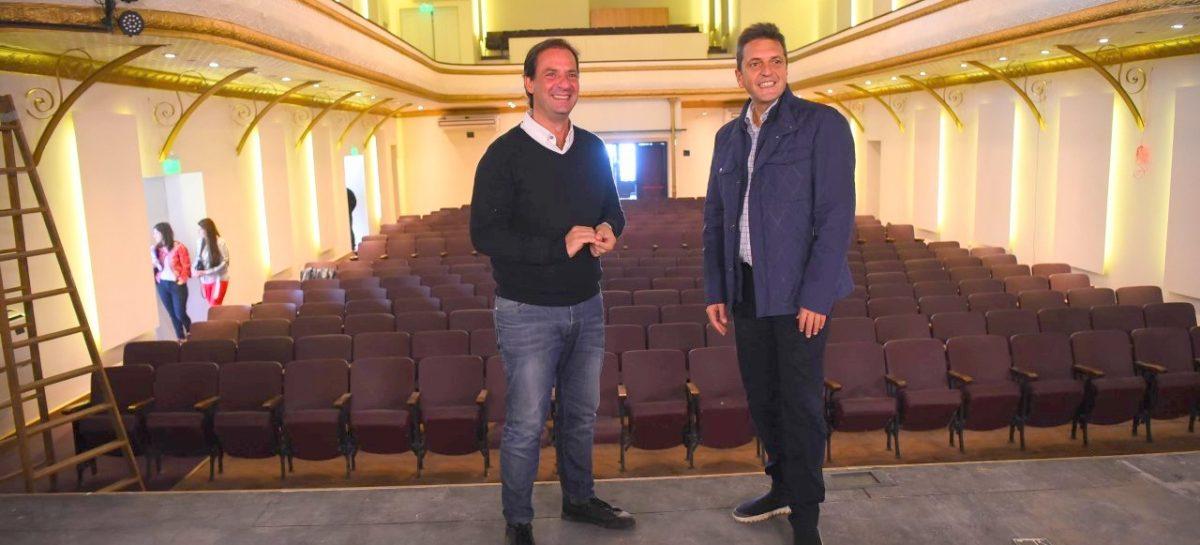Ariel Sujarchuk y Sergio Massa recorrieron obras en Belén de Escobar y Matheu