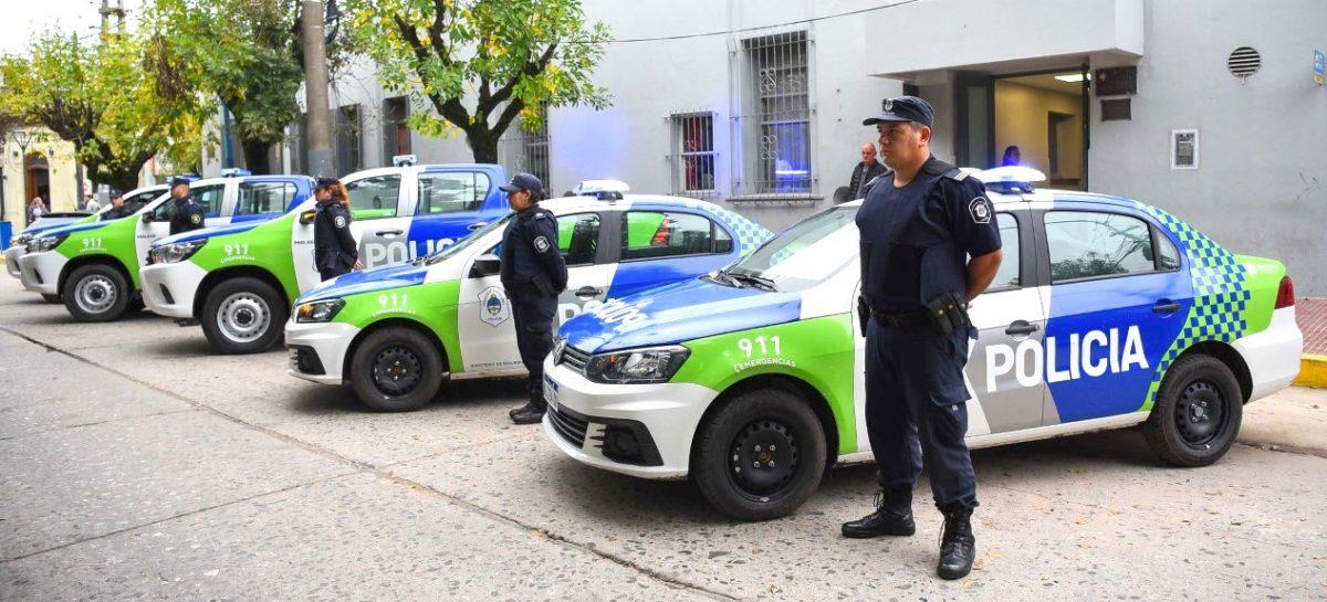 Llegaron cinco nuevos patrulleros para el nuevo subcomando de policía de Garín