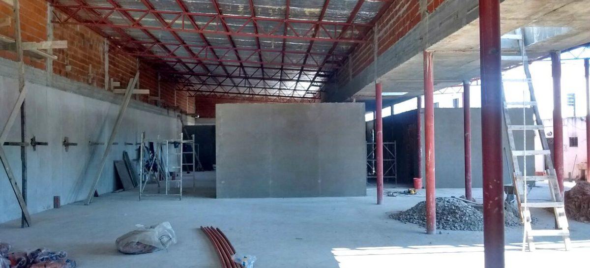 Avanza la obra para la instalación de 40 camas de internación en Matheu