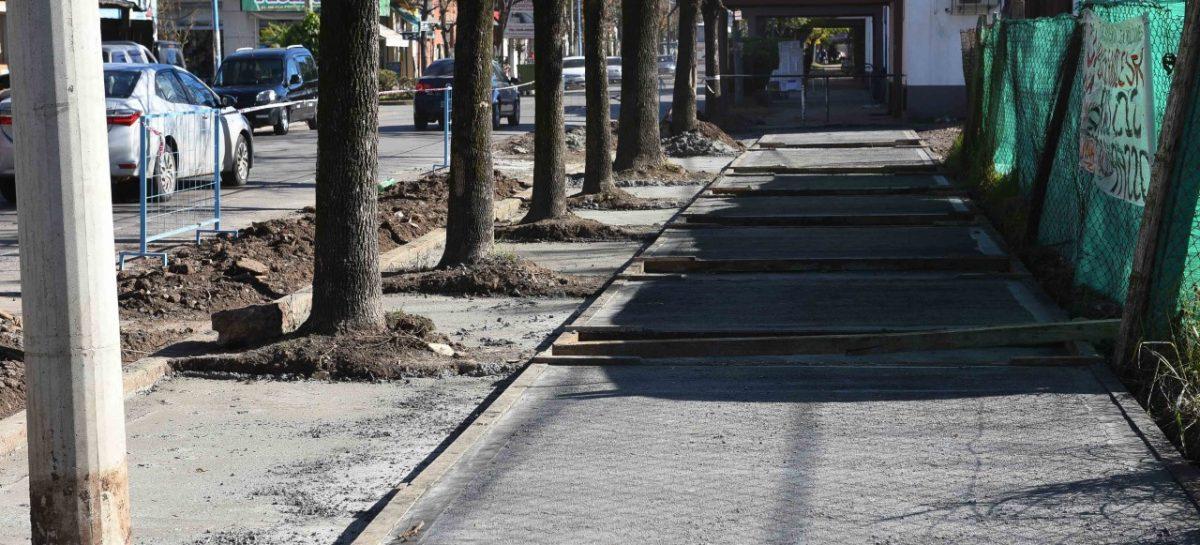 La Municipalidad de Escobar realiza trabajos de revalorización del centro comercial de Matheu