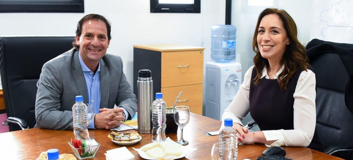 Ariel Sujarchuk recibió a María Eugenia Vidal y hablaron de los problemas de salud e inseguridad