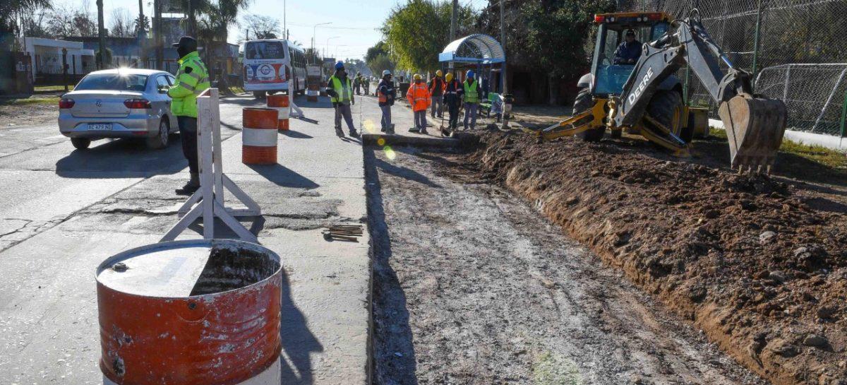 La Municipalidad de Escobar realiza obras de bacheo resistente sobre la Ruta 25