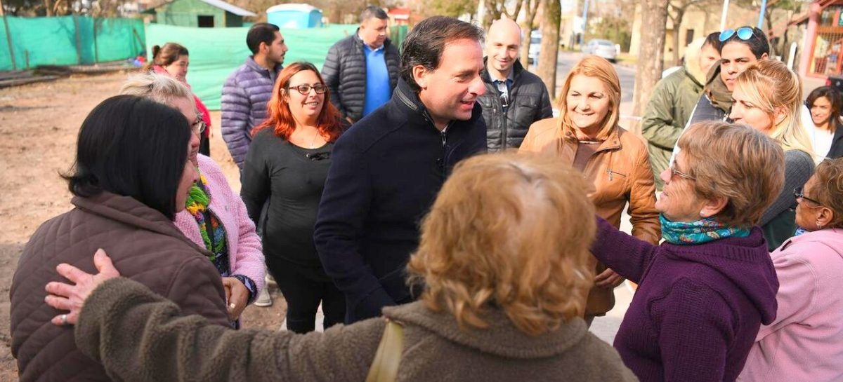 En Matheu, el intendente Ariel Sujarchuk recorrió las obras de la zona céntrica y del barrio Colón