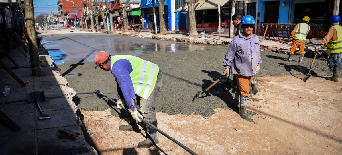 La Municipalidad de Escobar intensifica los trabajos de pavimentación en las principales calles del distrito