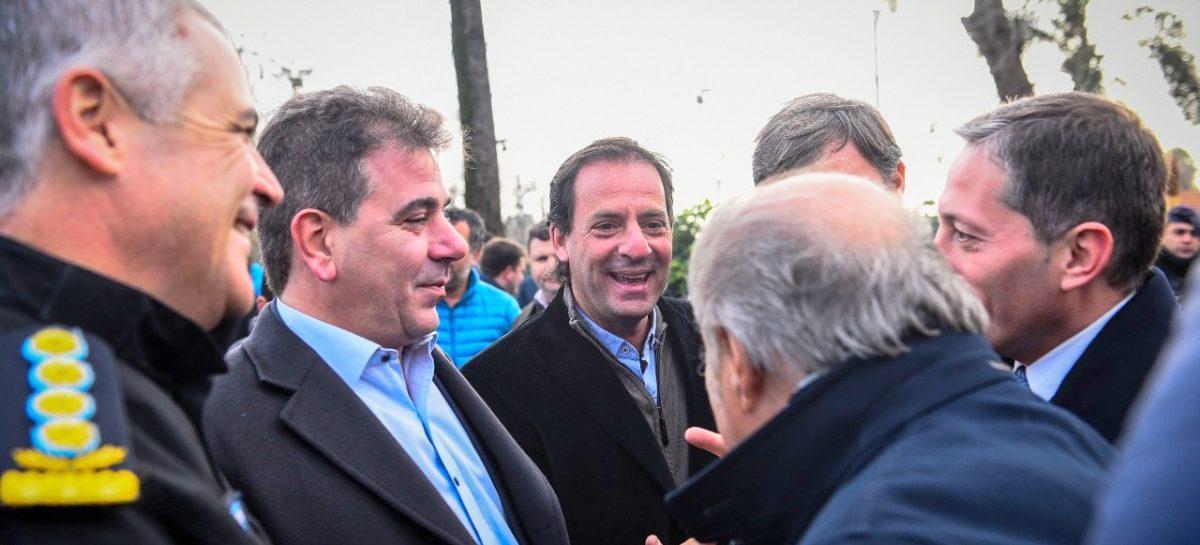 El intendente Ariel Sujarchuk participó del lanzamiento de un programa de seguridad provincial junto con la gobernadora Vidal y el ministro Ritondo