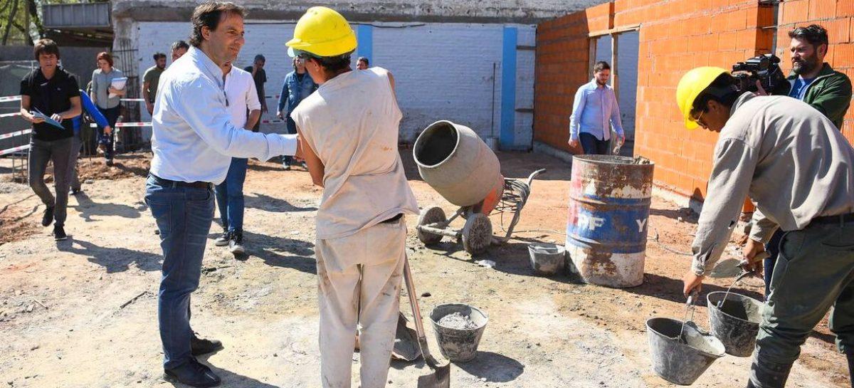 Ariel Sujarchuk supervisó las obras en el futuro Centro Cívico de Garín