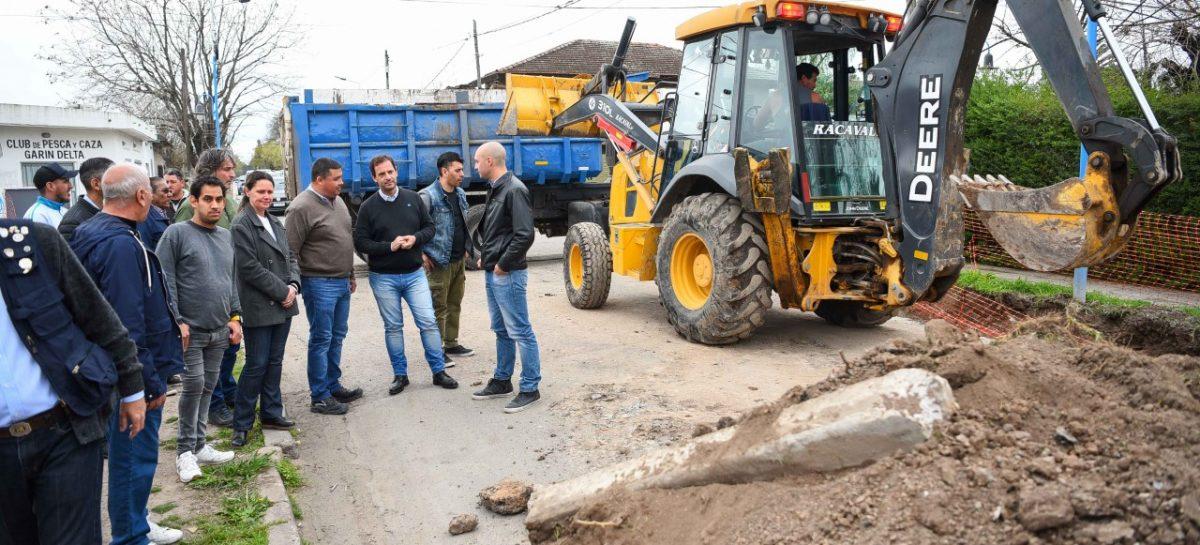 Ariel Sujarchuk supervisó obras de asfalto en Garín y Belén
