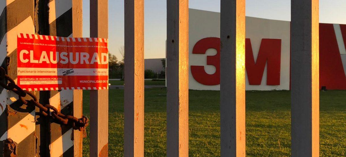 La Municipalidad de Escobar clausuró el centro de distribución de la empresa 3M en Garín