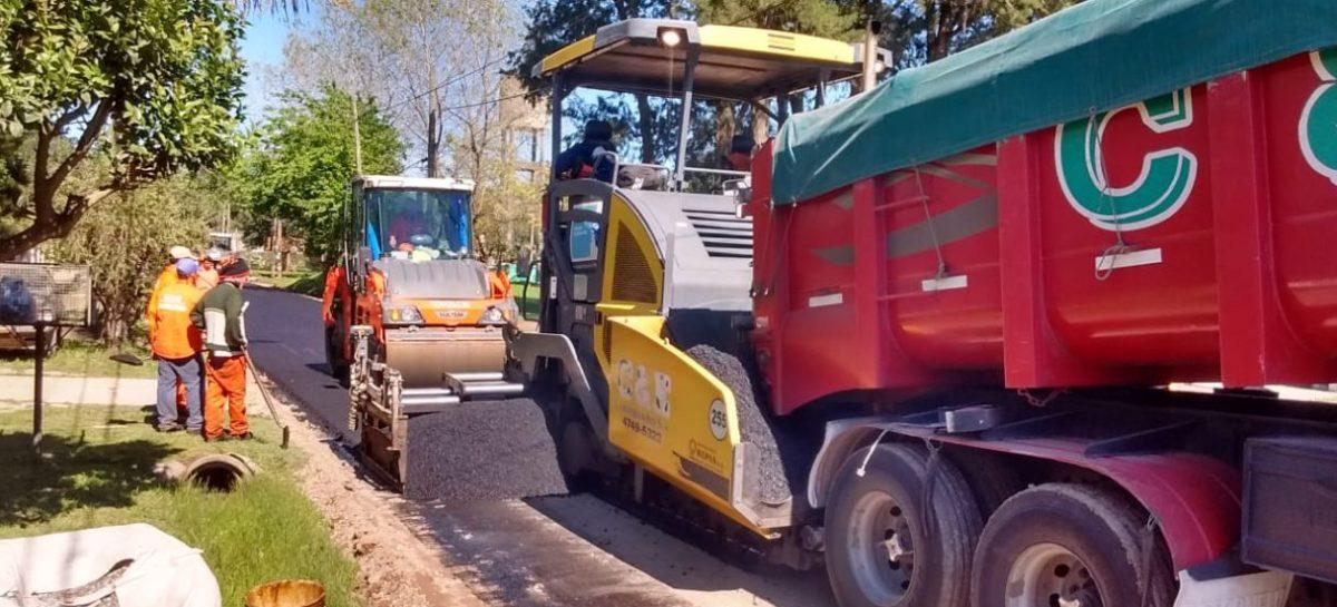 Continúan los trabajos de pavimentación ejecutados por la Municipalidad de Escobar