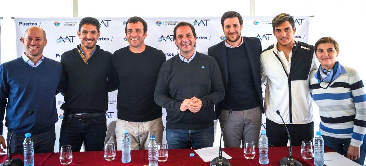 El municipio de Escobar será sede de un torneo internacional de tenis