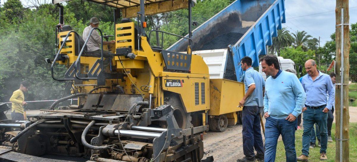 Ariel Sujarchuk recorrió obras de asfalto en Belén de Escobar e Ingeniero Maschwitz