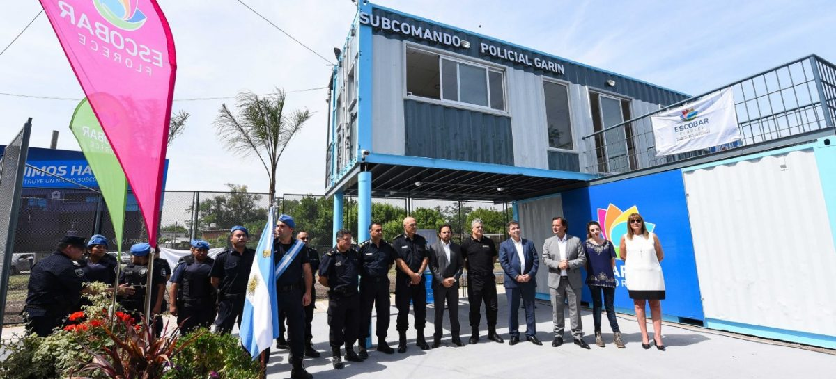 Ariel Sujarchuk y Cristian Ritondo inauguraron el nuevo Subcomando Policial de Garín