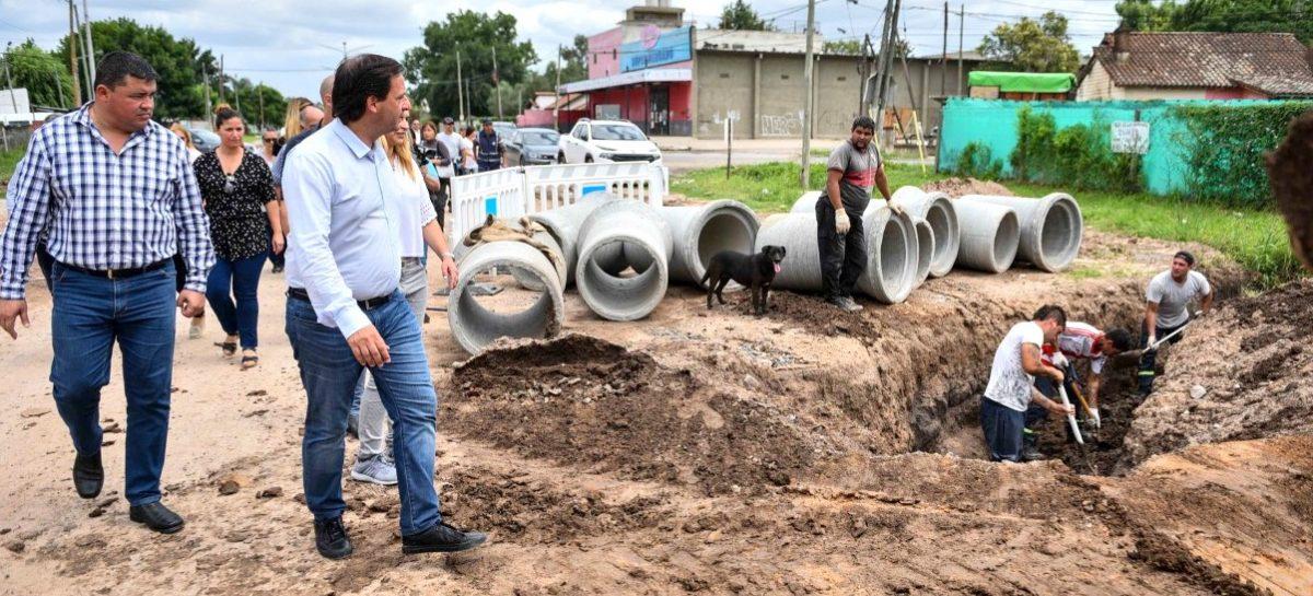 Ariel Sujarchuk recorrió obras hidráulicas que la Municipalidad realiza en Belén de Escobar y Garín