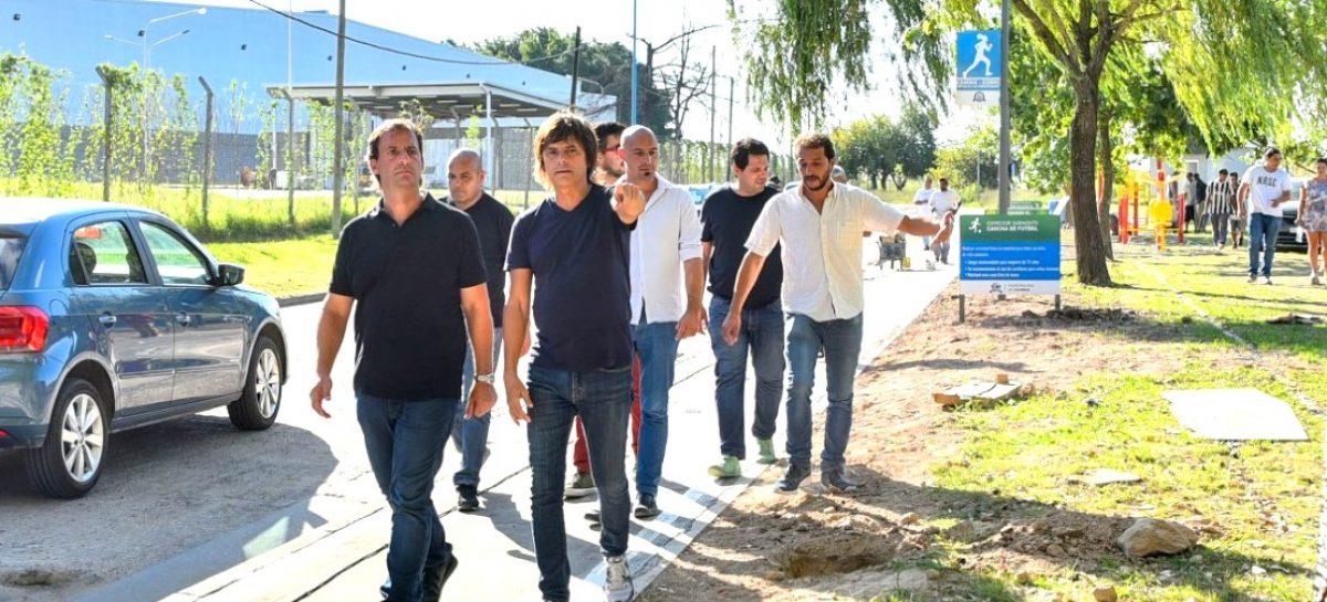 Continúan las obras del Corredor Sarmiento, un nuevo espacio público en Belén de Escobar