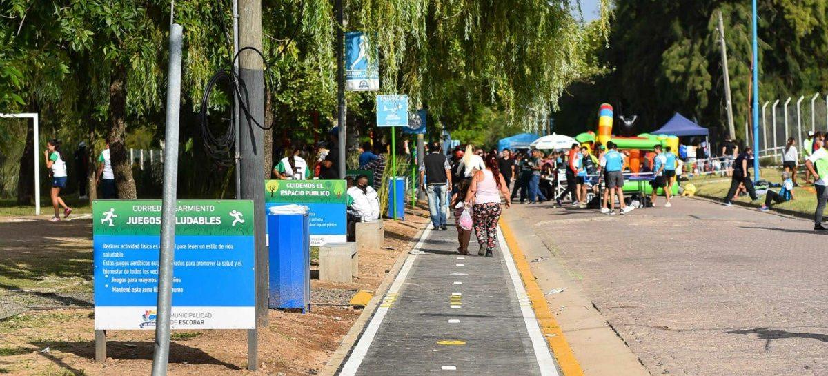 Se inauguró el nuevo corredor aeróbico de la calle Sarmiento en Escobar
