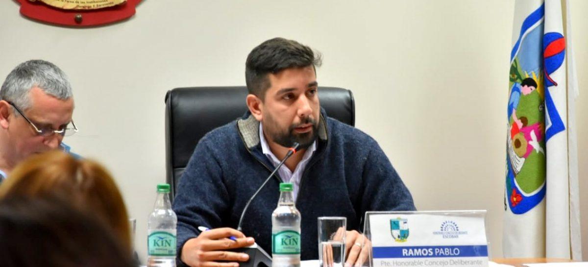 Presidida por el concejal Pablo Ramos, se llevó a cabo la Séptima Sesión Ordinaria del Concejo Deliberante de Escobar