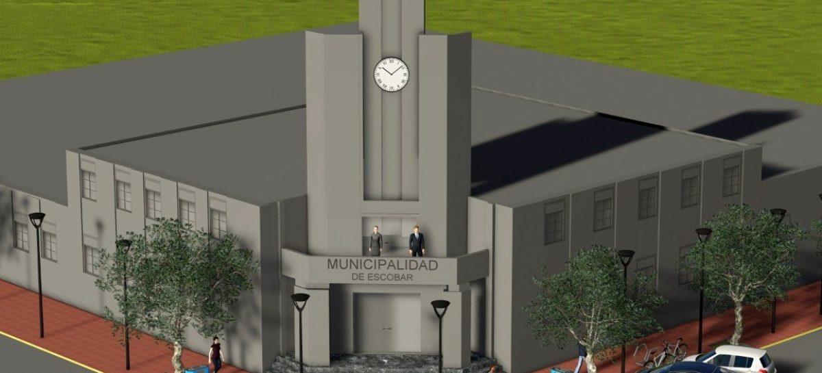 Escobar amplía su Palacio Municipal siguiendo el proyecto original del arquitecto Salamone