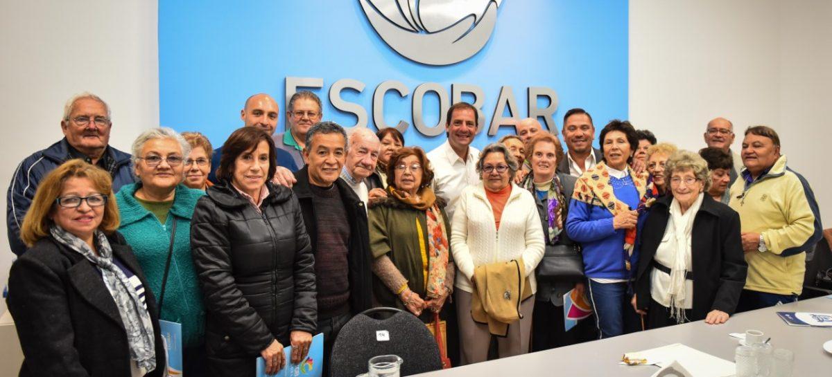 La municipalidad de Escobar anunció un programa de fortalecimiento para los centros de jubilados y pensionados del partido de Escobar
