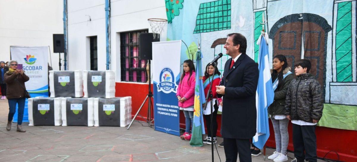 La Municipalidad de Escobar entregó 75 estufas para jardines, primarias y secundarias públicas del distrito
