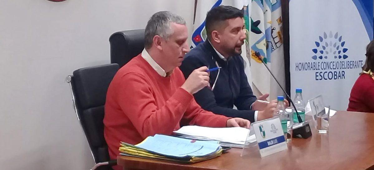 Presidida por el concejal Pablo Ramos, se llevó a cabo la Décima Segunda Sesión Ordinaria del Concejo Deliberante de Escobar