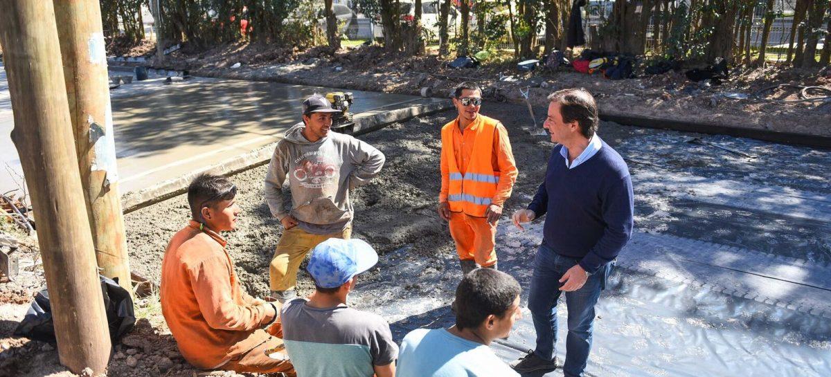 Sujarchuk supervisó obras de infraestructura que la Municipalidad realiza en Ingeniero Maschwitz y Garín