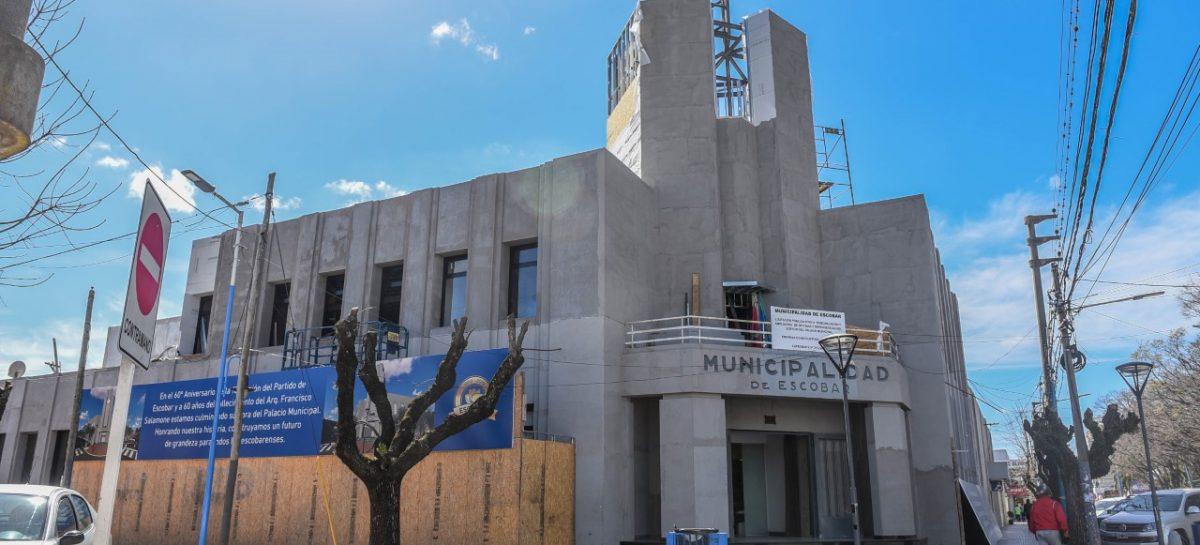 Última etapa de obras para finalizar la puesta en valor y ampliación del palacio municipal de Escobar
