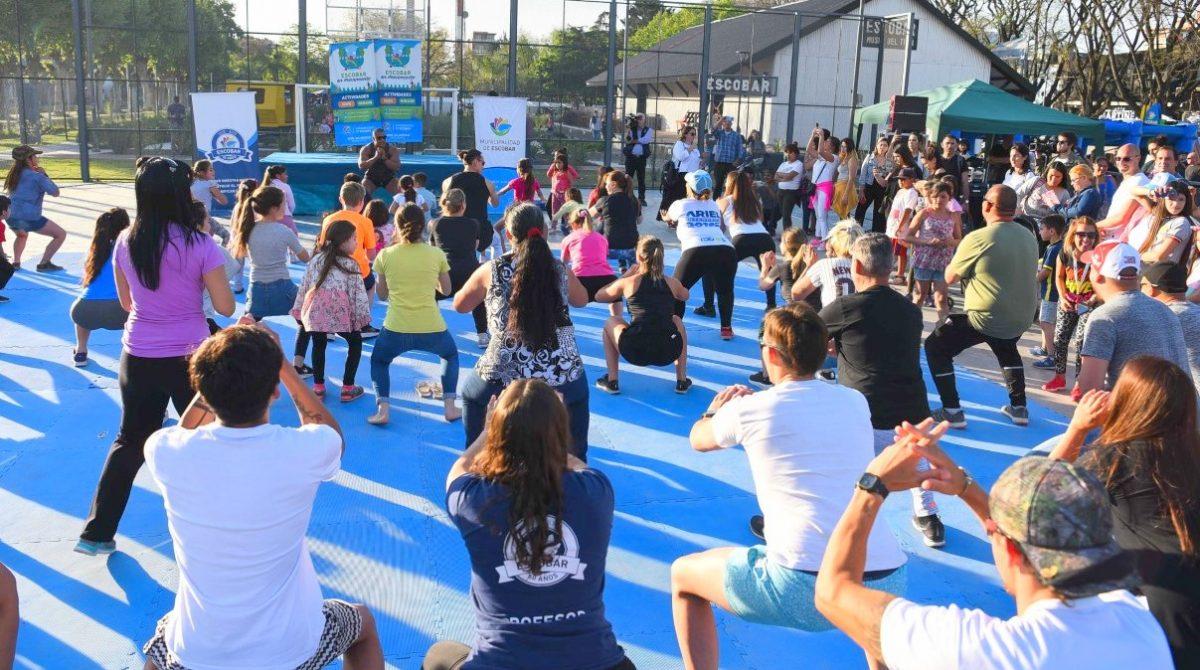 El programa municipal Escobar en Movimiento agrega días y horarios para sus actividades físicas y recreativas