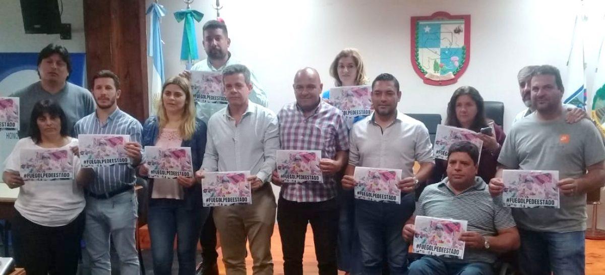 El Concejo Deliberante de Escobar repudió el Golpe de Estado en Bolivia a Evo Morales