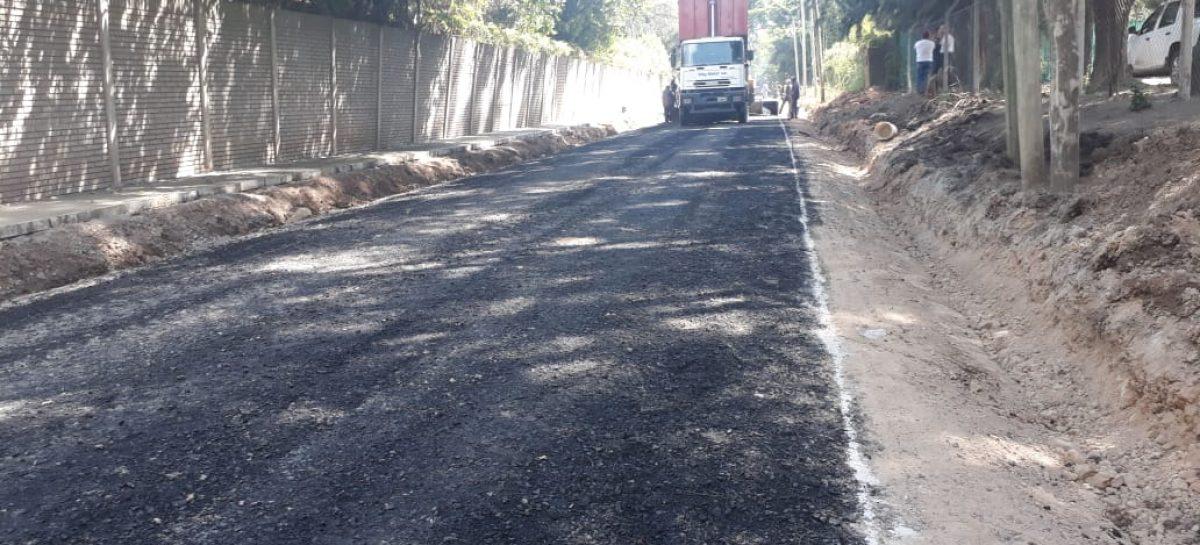 La Municipalidad de Escobar continúa con los trabajos de pavimentación de calles en Garín