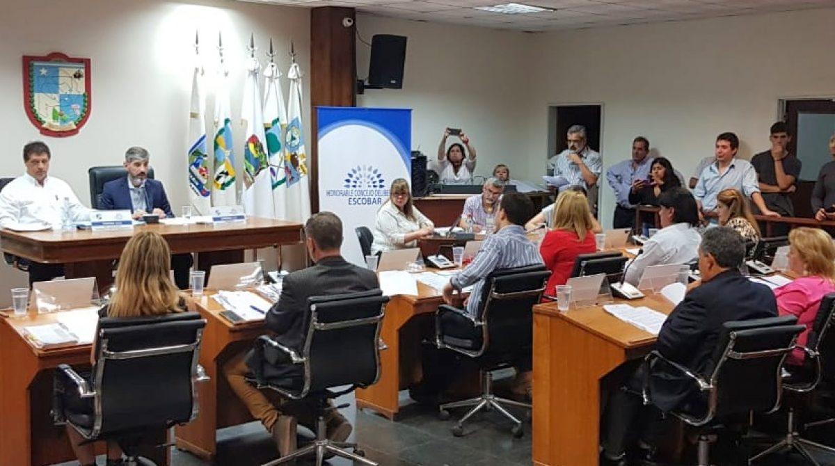HCD Escobar: importantes proyectos fueron aprobados por unanimidad en una sesión extraordinaria