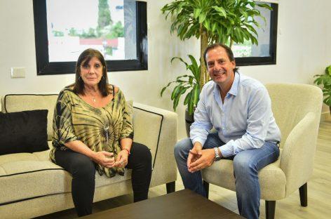 El intendente recibió en Escobar a la ministra de Gobierno bonaerense Teresa García