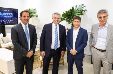 Ariel Sujarchuk estuvo junto al presidente Fernández y el gobernador Kicillof en la inauguración de una empresa en Garín