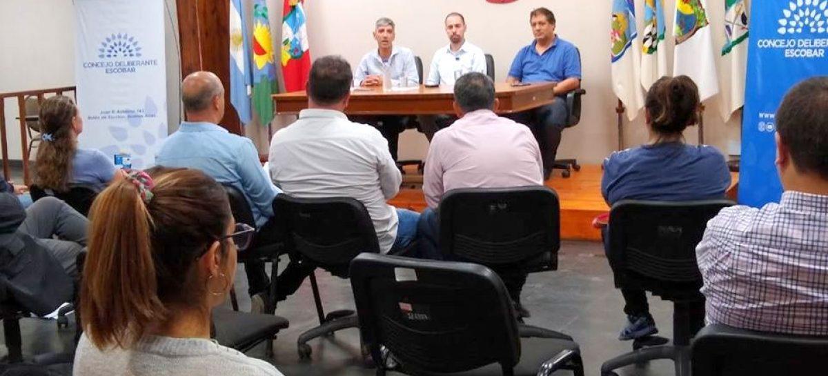 Charla informativa destinada a concejales y empleados del Concejo Deliberante de Escobar