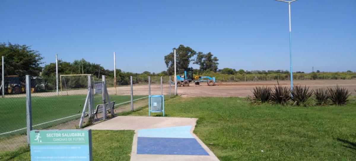 La Municipalidad de Escobar construye una cancha de fútbol 11 en el polideportivo de Matheu