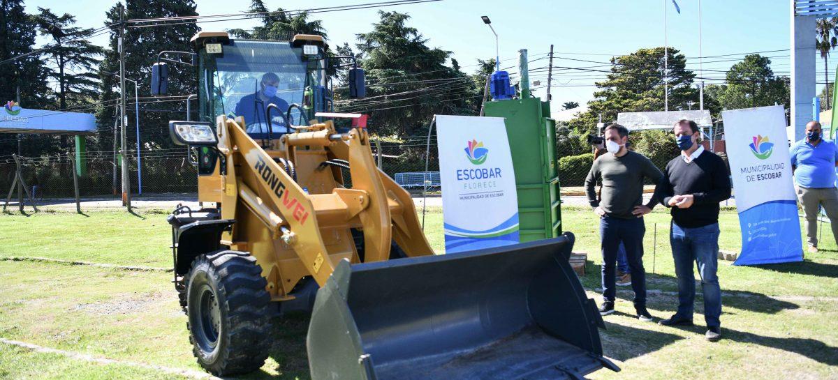 Sujarchuk y el ministro Cabandié recorrieron obras hidráulicas y presentaron nuevas maquinarias para el programa Escobar Sostenible