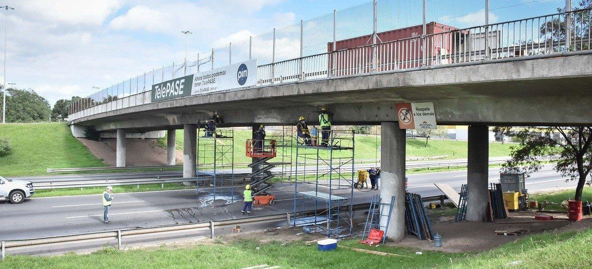 Puente Garín: finalizaron los trabajos de reparación y en las próximas horas queda habilitado para circular