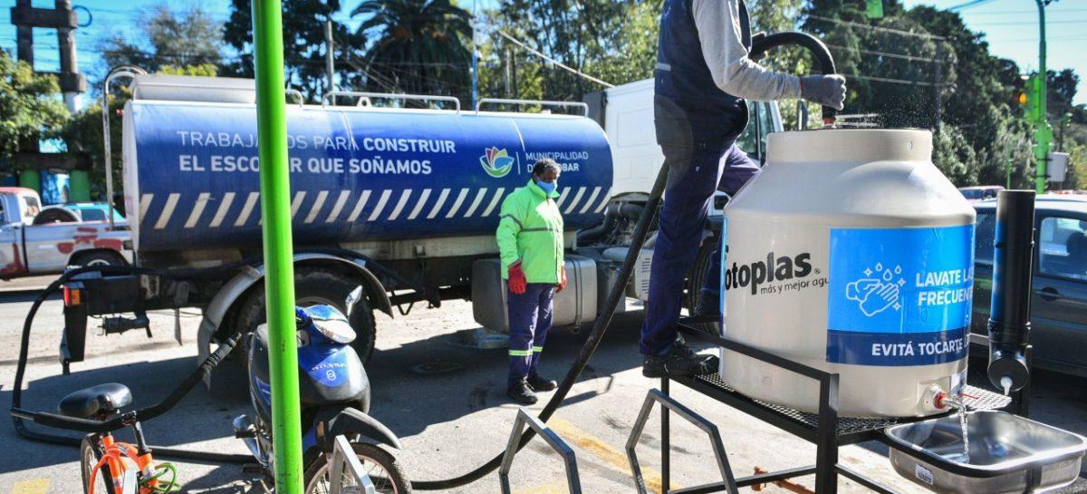 La Municipalidad instala tanques de agua comunitarios para extremar las medidas de higiene