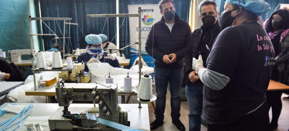 Sujarchuk y Larroque recorrieron un merendero y un taller textil de Matheu